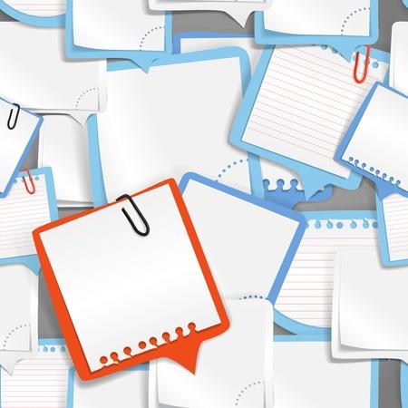Texto de papel burbujas de fondo sin fisuras