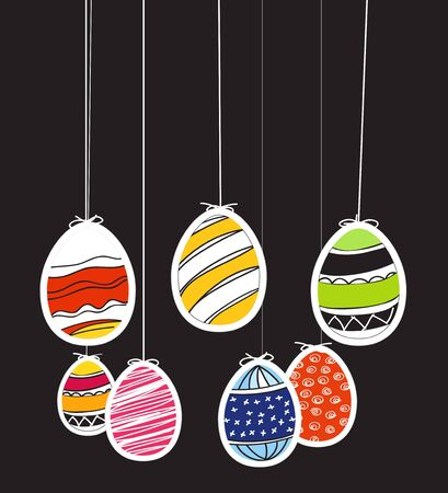 pasch: Easter eggs on rope