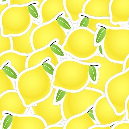 limones: De fondo sin fisuras de c�tricos amarillo