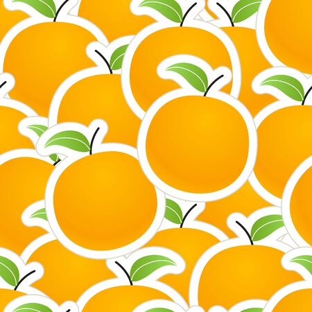 Group of oranges seamless background