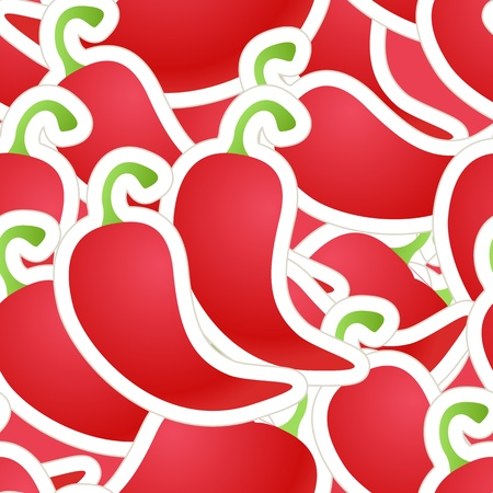chilly: Hot red pepper seamless background Illustration