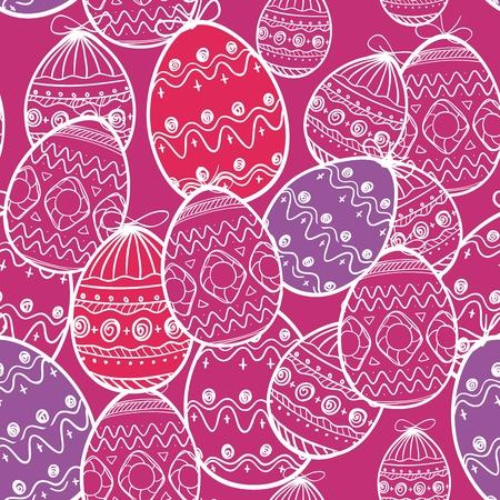 Easter eggs seamless background Stock Vector - 12044429