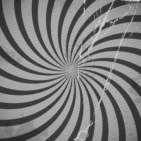 Vintage spiral grey background with blots Stock Vector - 12429018