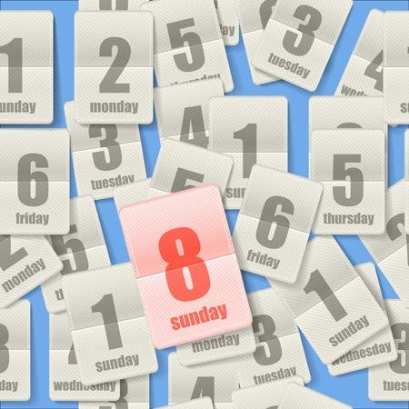 six months: Calendar sheets seamleaa background