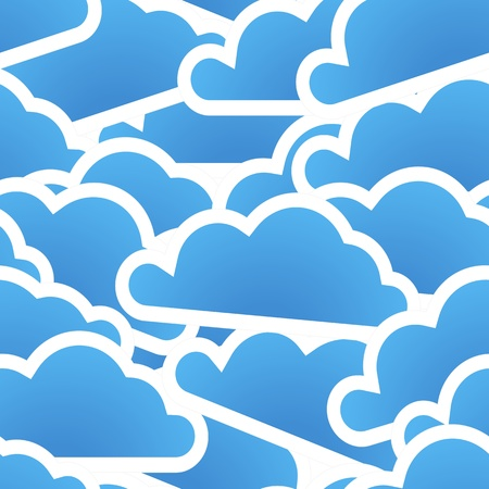 Group of blue clouds seamless background Stock Vector - 12429036