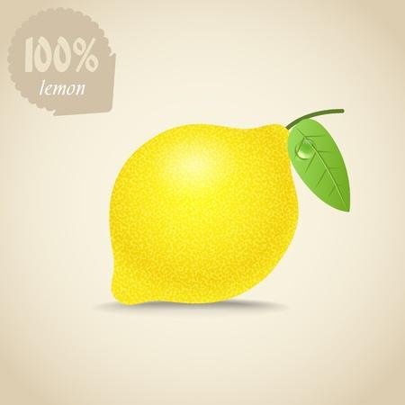 limon caricatura: Ejemplo lindo de limón fresco Vectores