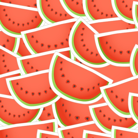 water melon: Red water melon seamless background Illustration