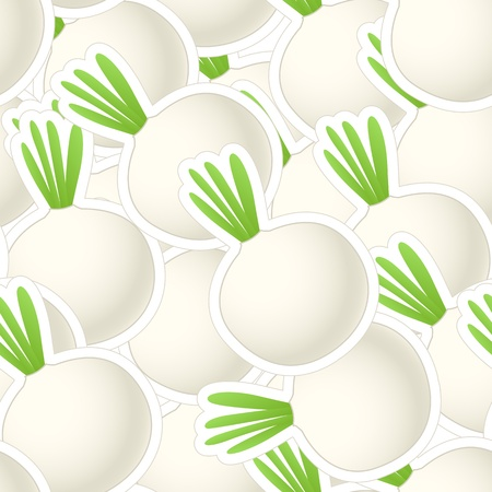 Onions group. Seamless background Vector