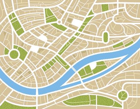 topografia: Resumen ilustraci�n mapa de la ciudad Vectores