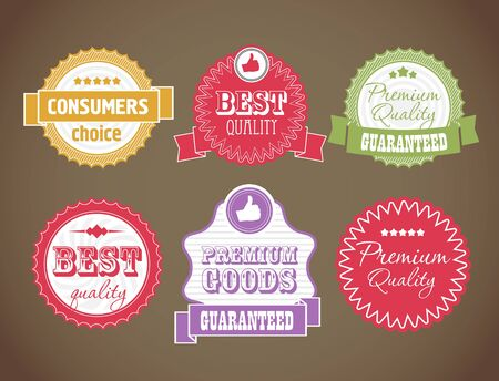 consumer goods: vintage discount labels set