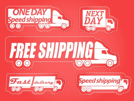 next day: Fast delivery stickers collection