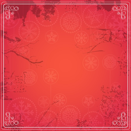 Vintage red background for a text Stock Vector - 12429069