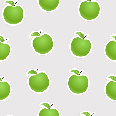 sequence: Green apples seamless background