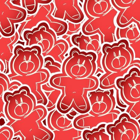 Teddy-bear seamless background Vector