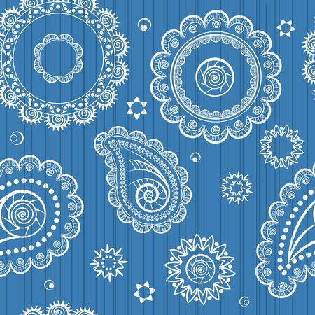 Abstract seamless background of retro flowers Vector