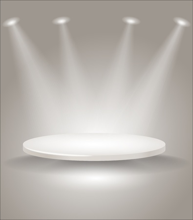 reflectors: Bright stage with spot lights