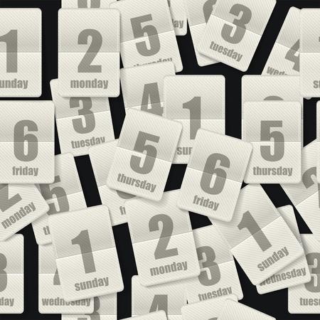 one on one meeting:  Calendar sheets seamleaa background