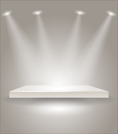 lighting effect: Bright stage with spot lights