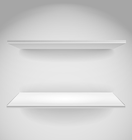 Empty advertising shelf with a spot lignt Vector