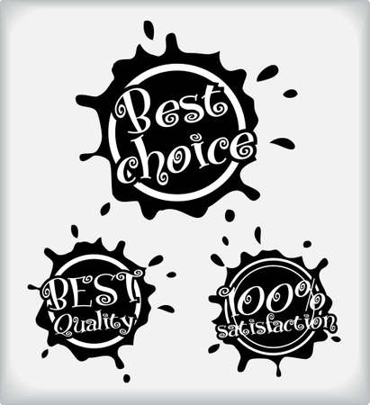 shopping labels. Blot style  Vector