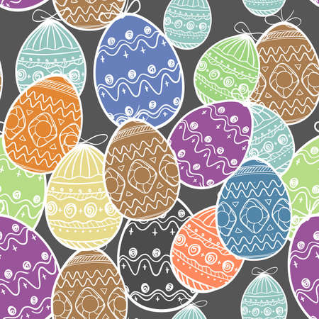 pasch: Easter eggs seamless background Illustration