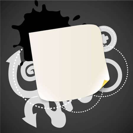Abstract background with the blank white paper  Vector