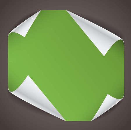 bending: Blank paper sheet with bending corners