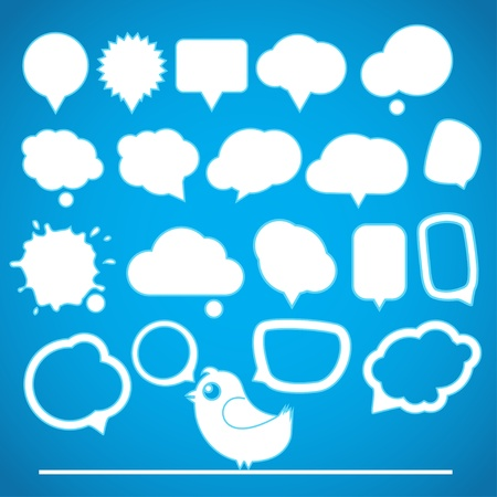 Speech bubbles collection Stock Vector - 12429137