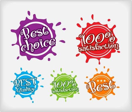 shopping labels  Blot style  Vector