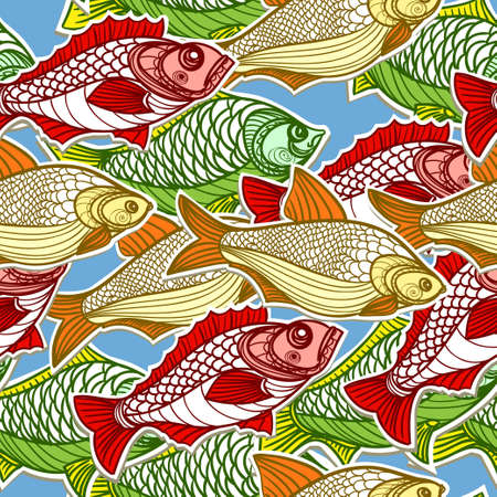 crucian: Fish in the sea Illustration