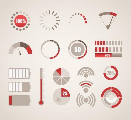term�metro: Indicadores colecci�n diferente Vectores