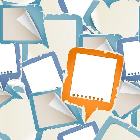 note de service: Papier bulles de texte de fond sans soudure