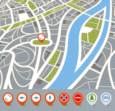 Blank Road Map Road Map Clipart Outline7359 Route Mark – Blank Road Map