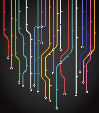 Resumen de metro de fondo esquema de Ilustración de vector