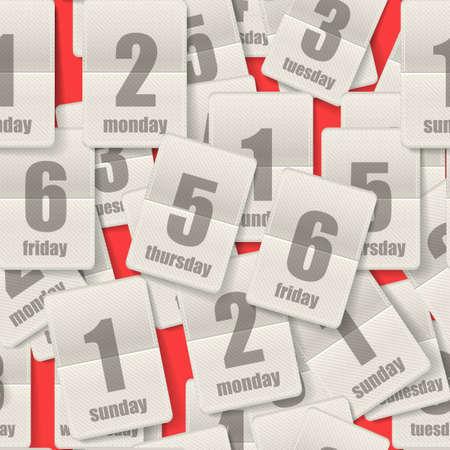 Calendar sheets seamless background