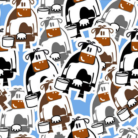 Group of cows seamless background Stock Vector - 12497855