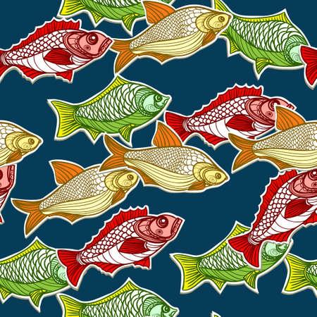Fish in the sea Vector