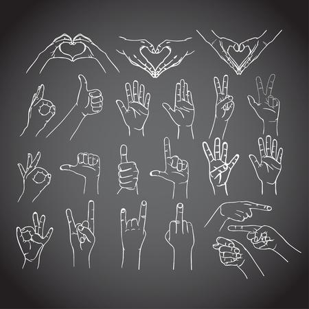 foda: Los gestos de las manos del hombre