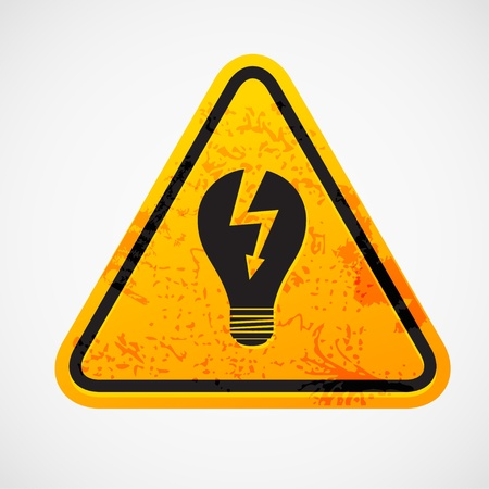 Grunge sign with the light bulb Stock Vector - 12497851