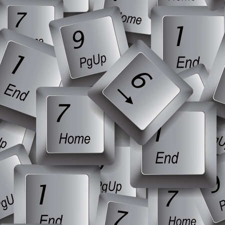 Computer buttons seamless background Vector