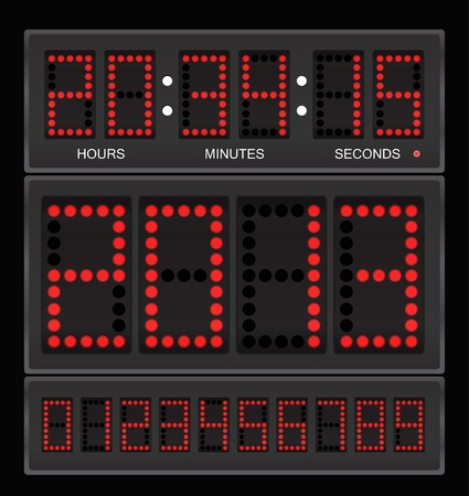 led: Digital clock Illustration