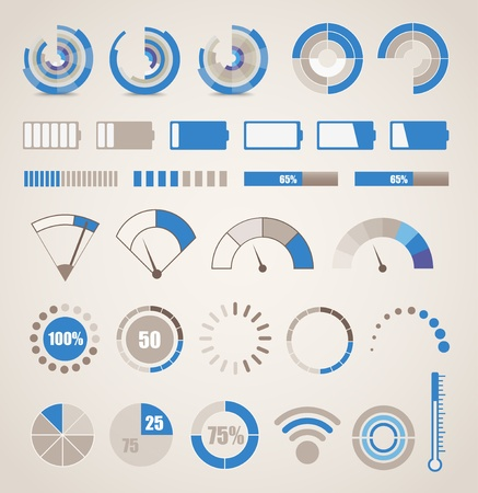 info graphic: Different indicators collection Illustration