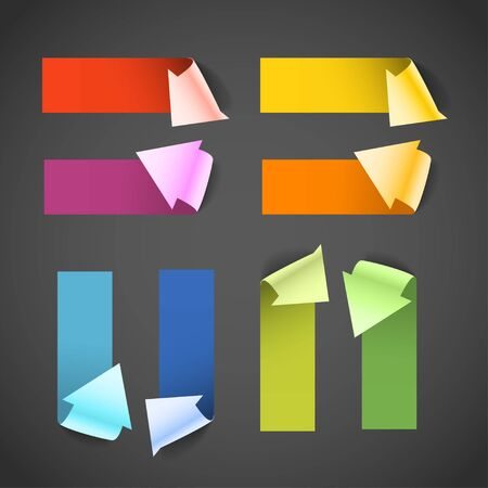 Colorful paper arrow banners  Place your text here Vector