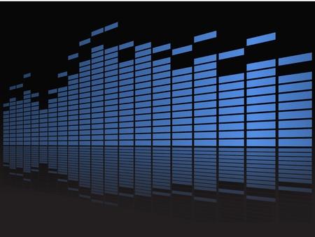 Grafische equalizer in perspectief Vector Illustratie