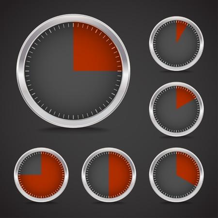 Dark timer collection Vector