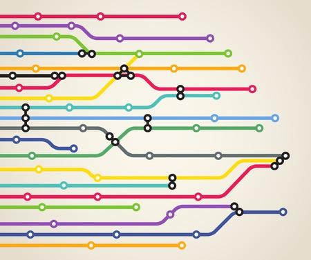 estación del metro: Resumen de metro esquema de color de fondo