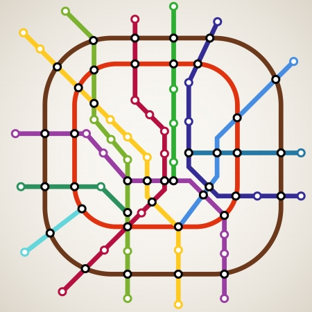 Abstrakte Farb-U-Bahn-Plan Hintergrund