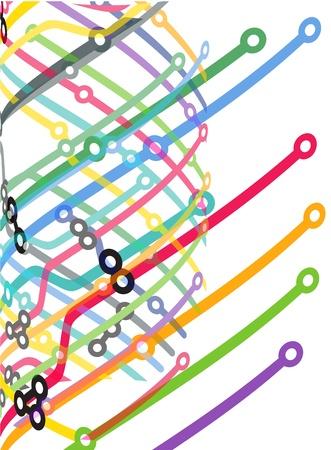 Abstract color metro scheme background Stock Vector - 12837385