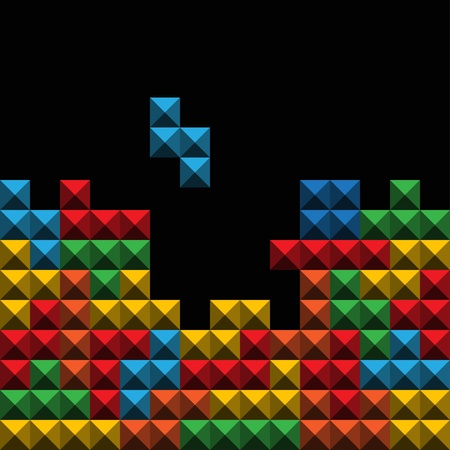 tetris: Abstract background, color game figures