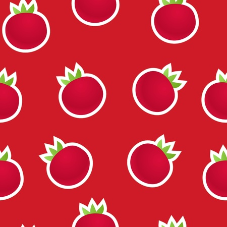 Red tomatoes seamless background Vector